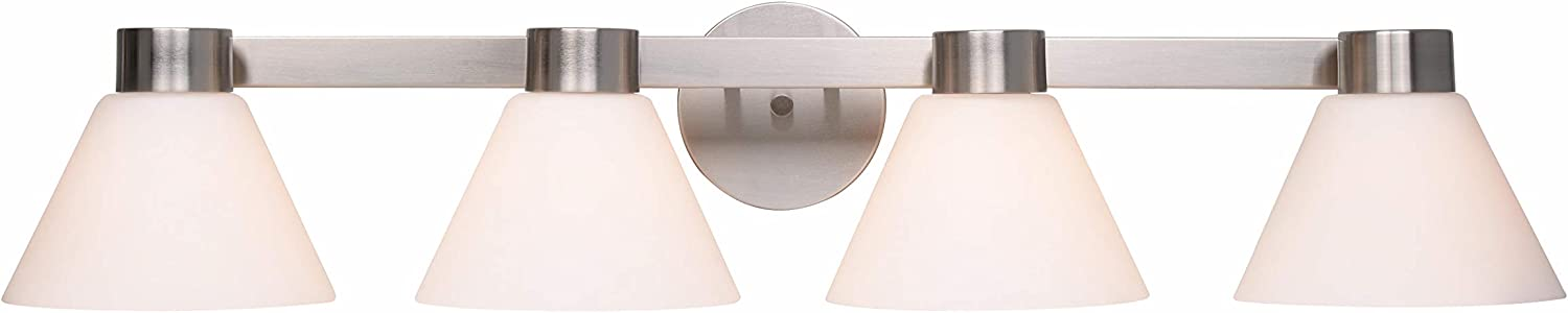 Home Decorators Collection Maxwell Wall Sconce, 4-Light, Brushed Steel