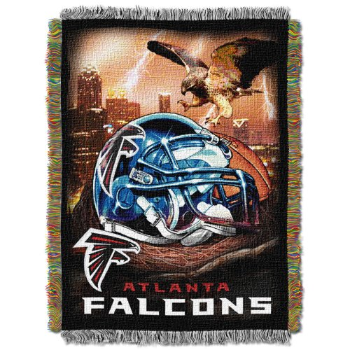 The Northwest Company Officially Licensed NFL Atlanta Falcons Home Field Advantage Woven Tapestry Throw Blanket, 48