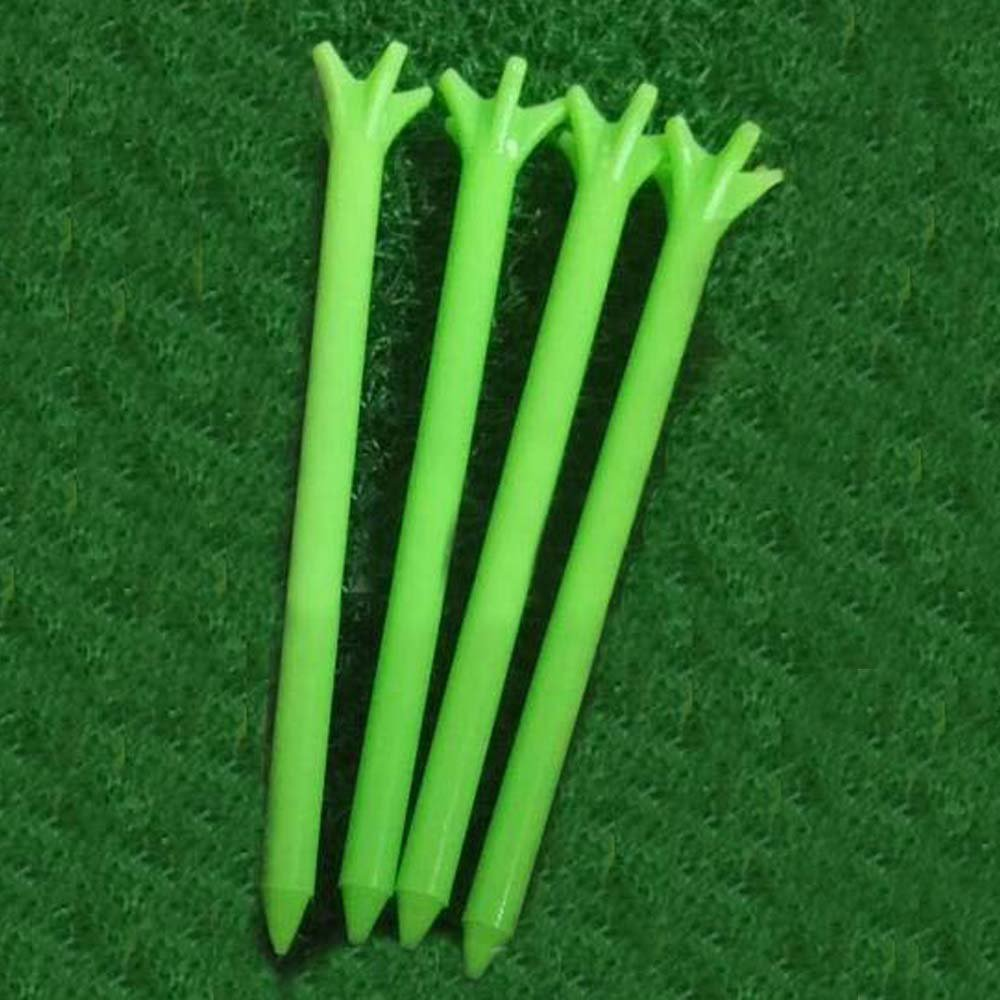 100Pcs 70Mm Golf No Friction 5 Prong Tees 2 3/4'' Gzft Golf Tees Plastic Tee(Green)