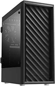 Zalman T7 ATX Mid Tower Premium Computer/PC Case with Pre-Installed Two(2) 120mm Fans, Tinted Acrylic Side Panel & Patterned Mesh Design, (Black)