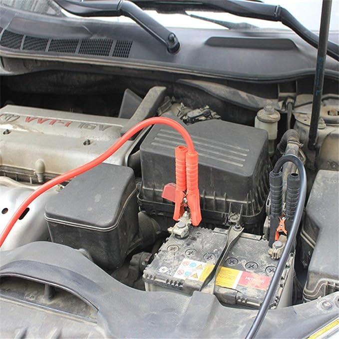 Froadp 2x6m Auto Starthilfekabel Satz mit /Überspannungsschutz 12V//24V Starterkabel f/ür Auto LKW Motorrad Rot und Schwarz