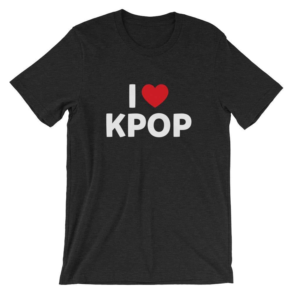 I Love Kpop Shirt Funny K-Pop Korean Akira Music Pop Asian Gift Tee Short-Sleeve Unisex T-Shirt