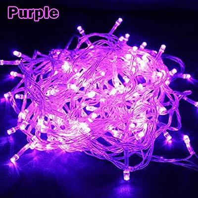 Greatest Popular 8 Modes 30M 300 LED Nightlight Illuminations Christmas Tree Halloween Color Purple with US Plug 110V