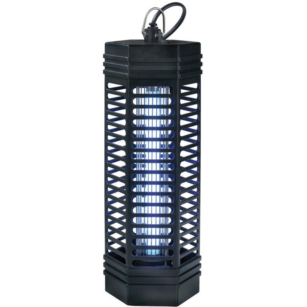 Trampa de luz para insectos de 1000 voltios 1 x 11 Watt alcance de hasta 90 m² - Lámpara antimosquitos con luz Ultravioleta Powerpreise24