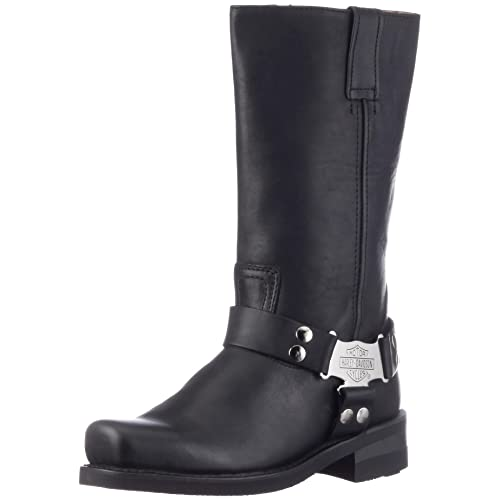 Harley Davidson IROQUOIS HI/BLACK INSIDE ZIP D97386 - Botas de cuero para hombre, color negro, talla 46: Amazon.es: Zapatos y complementos