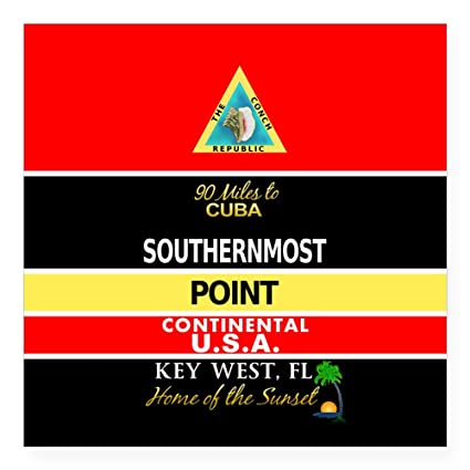 Cafepress southernmost point buoy key west sticker square bumper sticker car decal 3quot