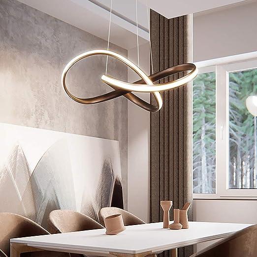 Lampadari Design Camera Da Letto.Led Lampadario Moderno Marrone Ferro Alluminio Luce Pendente