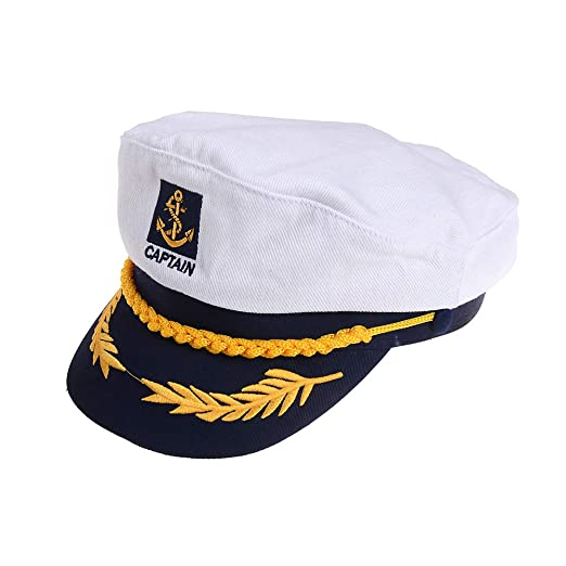 Amazon.com  Welecom Sailor Captain Hat Embroidery Boat Ship Hats ... 12756a7d60f