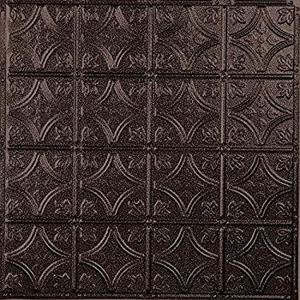 American Tin Ceilings Pattern #3 Tin Tile Backsplash Kit (Copper Penny Vein)