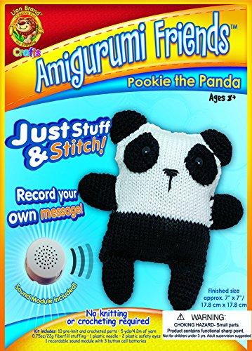 Lion Brand Yarn AFS-AM6 Amigurumi Friends Kit, Pookie The Panda