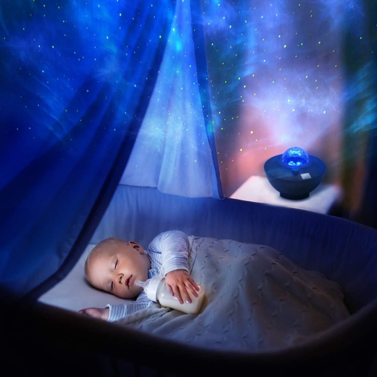 Sternenhimmel Projektor Kinder Nachtlicht Galaxy Projektor Nebel Lampe Starry Music Projektor mit Bluetooth Timer Fernbedienung LED Rotation für Kinder Erwachsene Dekoration Weihnachten Geschenk: Amazon.de: Baby - Sternenhimmel Lampe