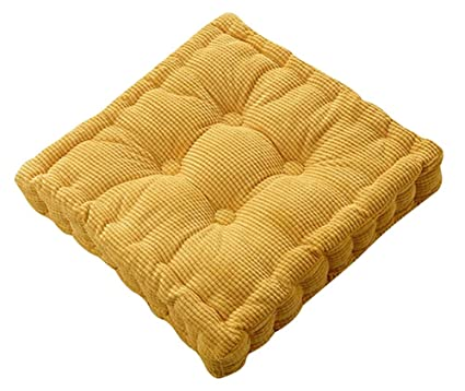amazon com tufted thick chair pad seat square boosted pillow