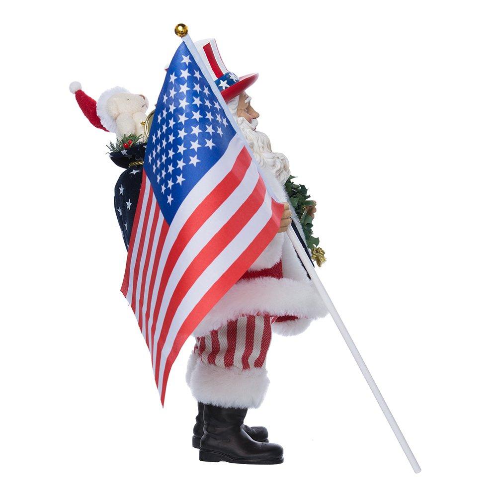 Kurt Adler Fabrich/é Patriotic Americana Santa