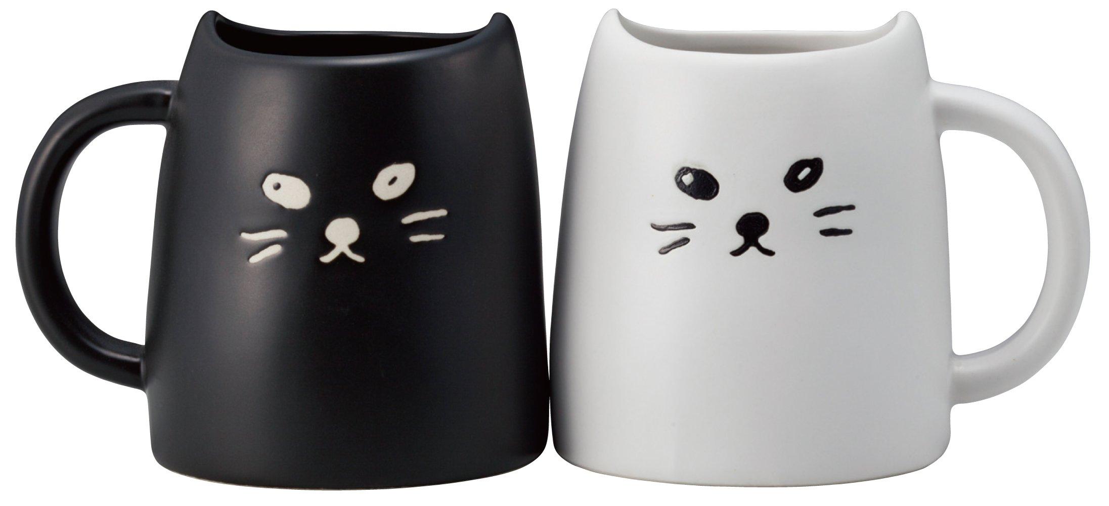 Peamagu SAN2140 and white cat animal tea black cat (japan import)