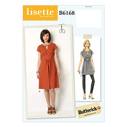25703bcf707 Amazon.com  Butterick Patterns B6168 A5 Misses  Keyhole Tunic and Dress by  Lisette