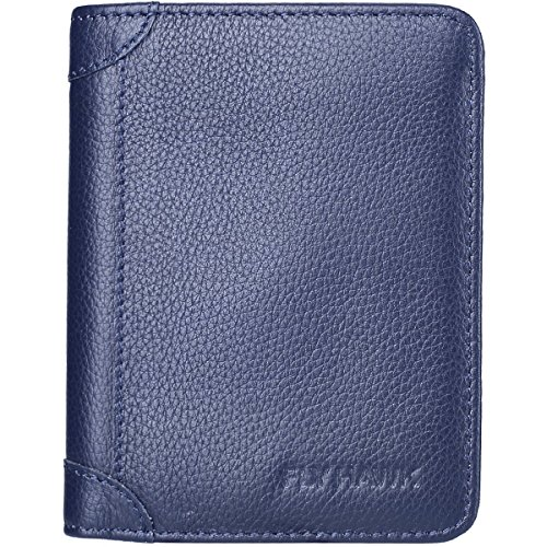 FlyHawk Best RFID Blocking Top Genuine Leather Wallets for Mens