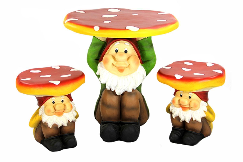 Amazon.com  3-Piece Jolly Gnome Table and Chair Novelty Garden Furniture Set  Outdoor And Patio Furniture Sets  Garden \u0026 Outdoor  sc 1 st  Amazon.com & Amazon.com : 3-Piece Jolly Gnome Table and Chair Novelty Garden ...
