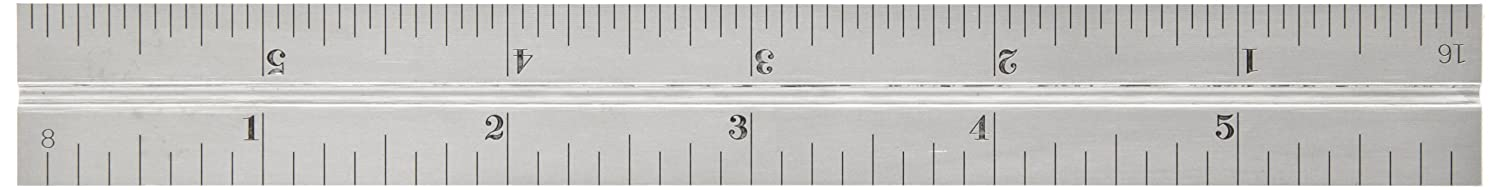 Satin Chrome Finish Sets And Bevel Protractors 4R Graduation 5//64 Thickness 3//4 Width 6 Size Starrett CB6-4R Combination Square Blade With Inch Graduations