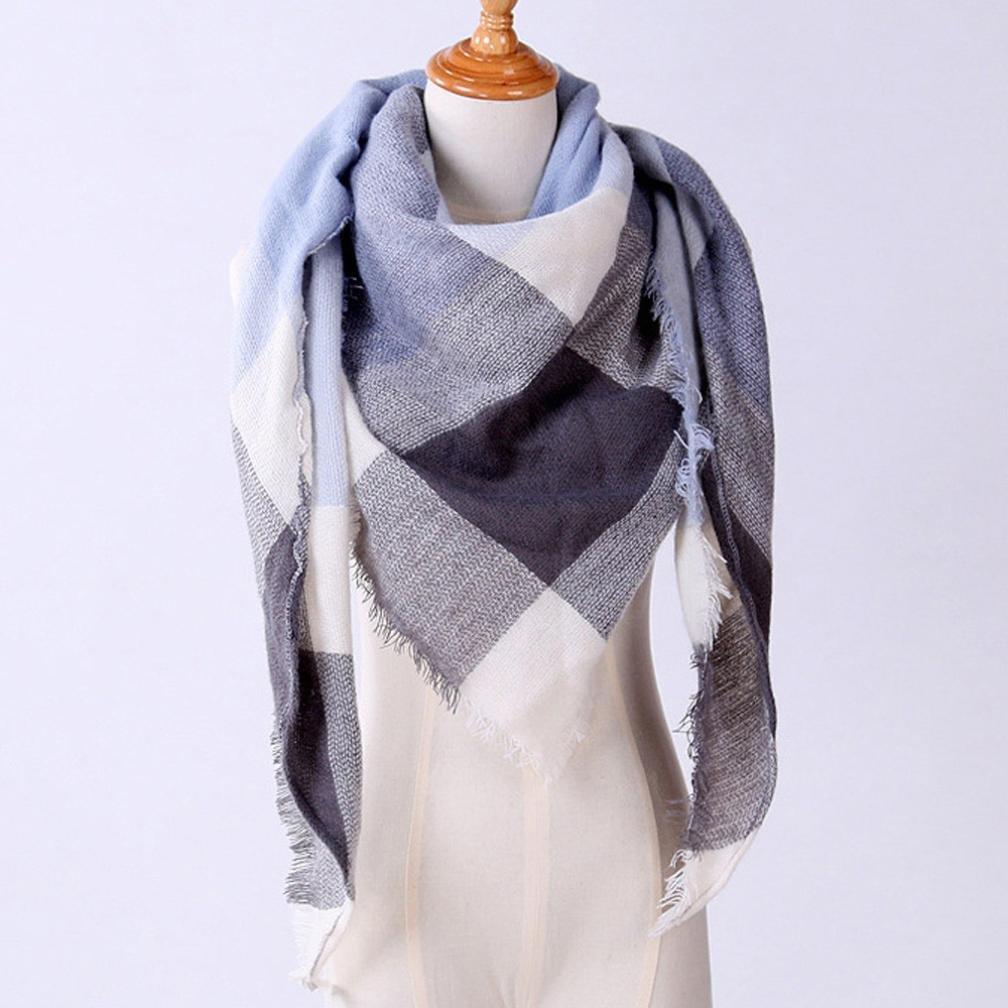 Weihnachtsgeschenk Winter Schal SHOBDW Frauen Schal Kaschmir Herbst Plaid Wolle Schals Schal