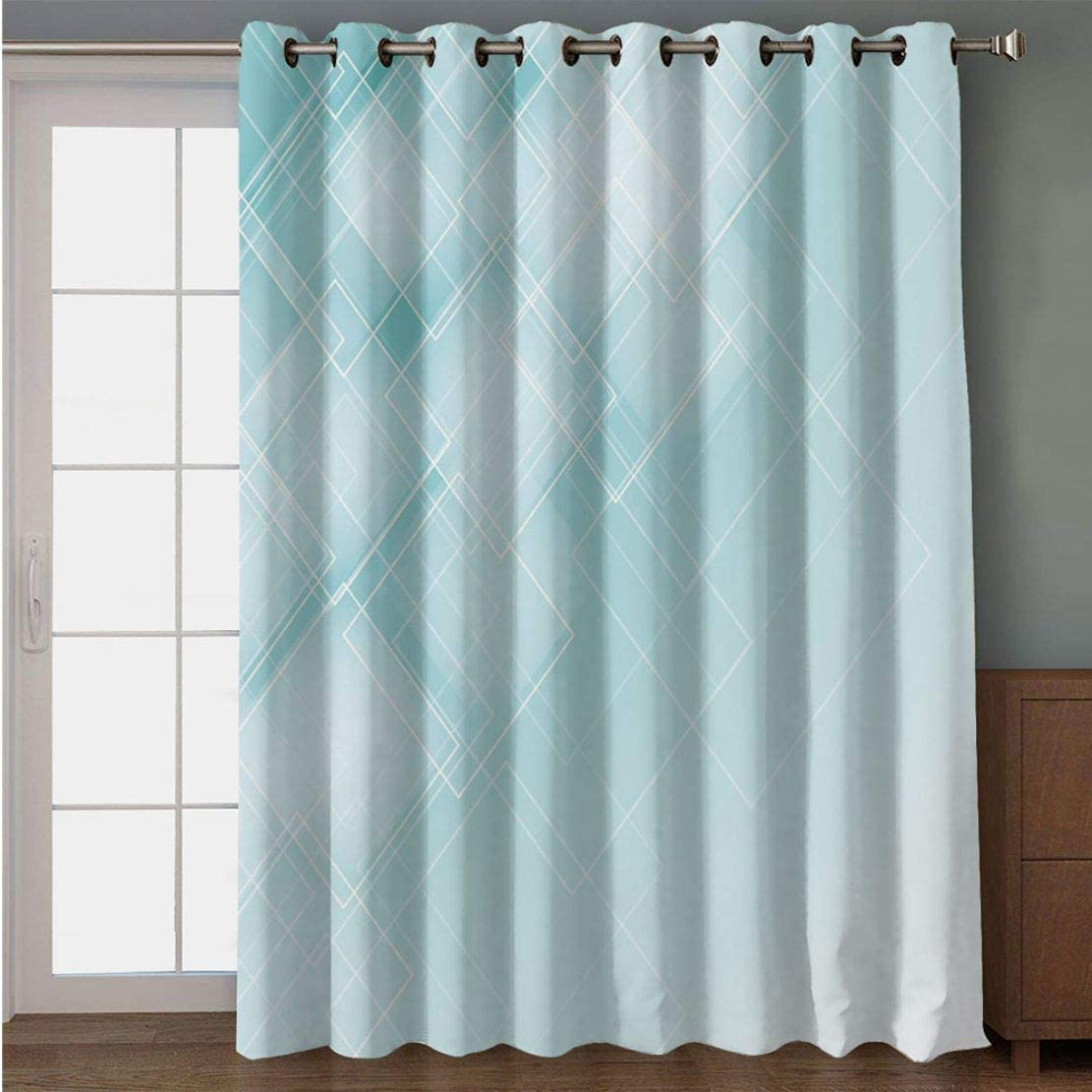 Joy2016 Blackout Curtains for Patio Sliding Door, Extra Wide Draperies for Double Window, Thermal Insulated Energy Efficiency Blackout Curtains for Bedroom Decor, 108 Inch Wide x 108 Inch Length