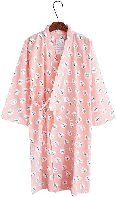 Mujeres Algodón Kimono Robes camisón pijamas Khan Steamed Albornoz Yukata - C: Amazon.es: Ropa y accesorios