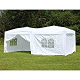 Palm Springs 10 x 20 Pop-up WHITE Canopy w/ 6 Side Walls EZ to set up