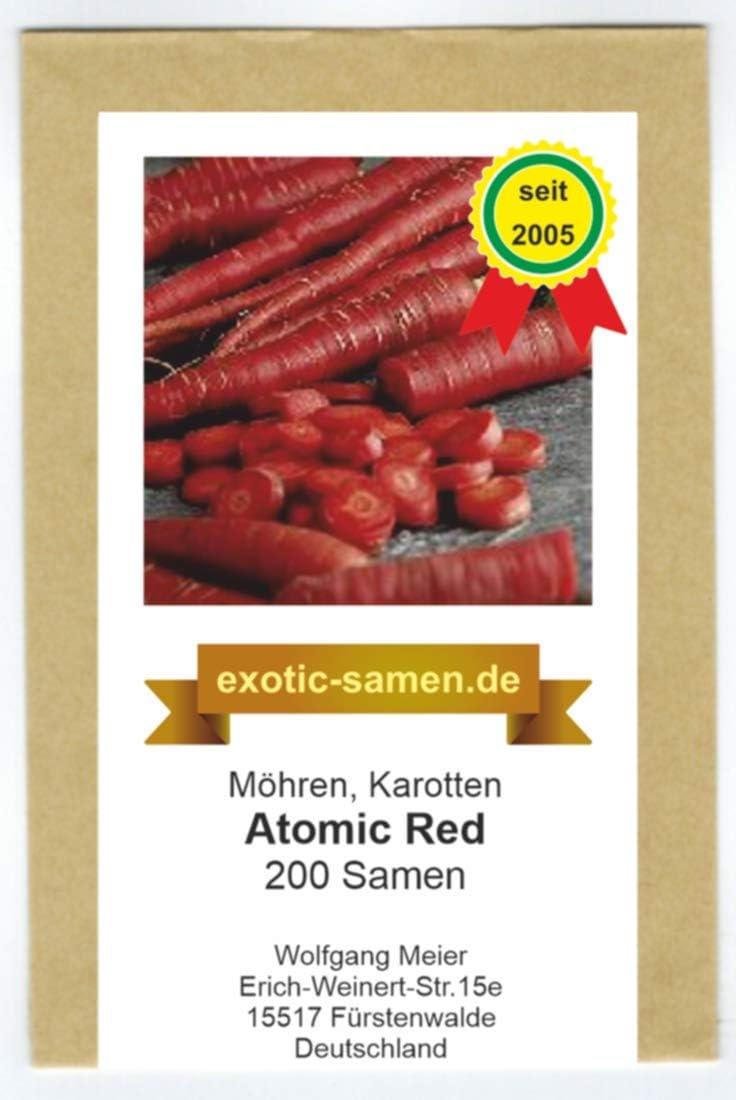 200 Samen M/öhre Atomic Red Karotte