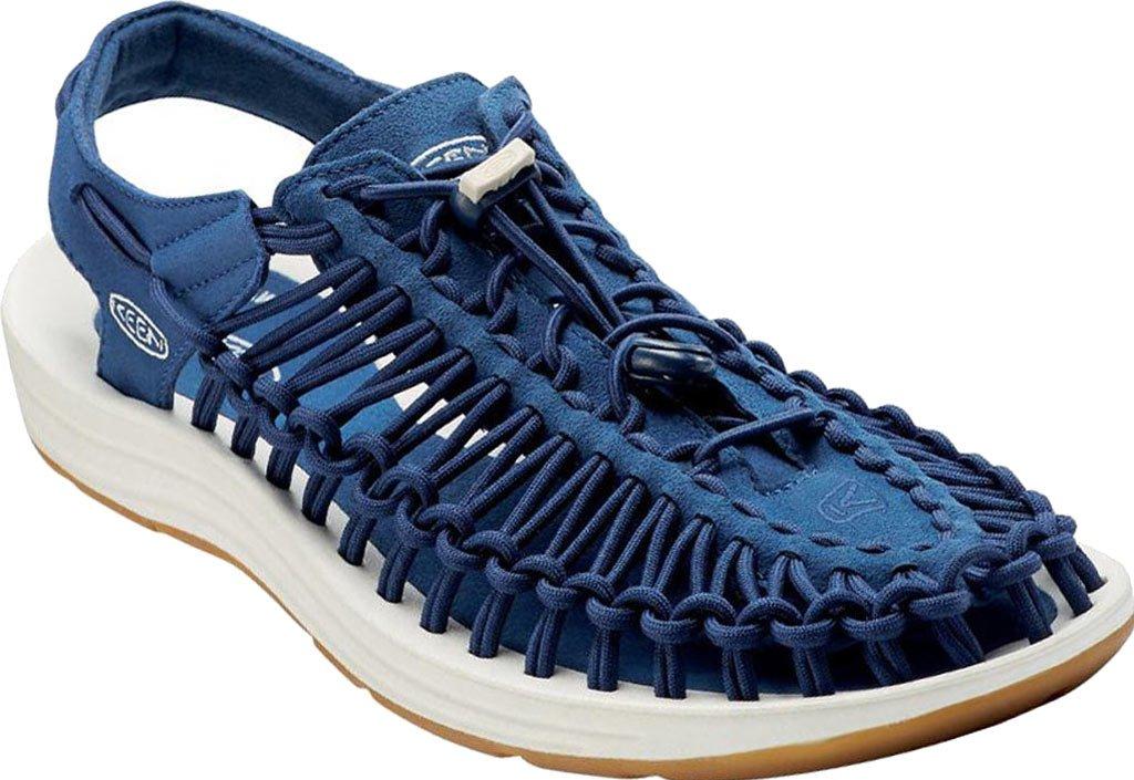 KEEN Women's Uneek 8MM Sandal B01H8HFO9Y 6 B(M) US|Estate Blue / White