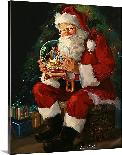 Santa Believes Canvas Wall Art Print