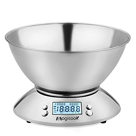 Magicook Digital Kitchen Scale Multifunction Food Scale With A Removable  Bowl Precise Measurements Room Temperature And