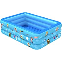 Ginkx Piscina Hinchable Familiar Piscina Rectangular para niños, Piscinas inflables para niños, Centro de natación Ideal…