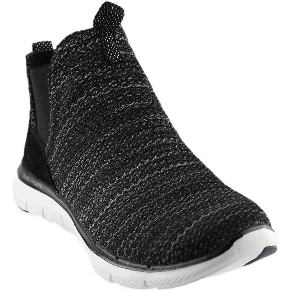 Skechers Women's Flex Appeal 2.0 Double Gore Slip on High Top Sneaker B01N37196Q 8.5 B(M) US|Black