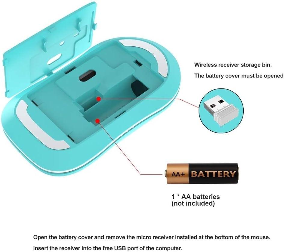 Gaming L100 2.4GHz Ultrathin Wireless Keyboard Mouse Set Black Color : Blue
