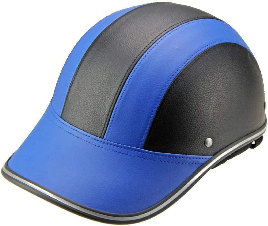 Berrd Leichte Unisex Sommer Reithelm Baseball Cap Half Helm Motorrad Bike Riding Fahrradhelm Plaid Muster
