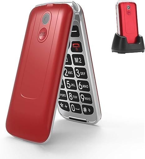 3G Flip Teléfono para Personas Mayores, Teclas Grandes, Fácil de ...