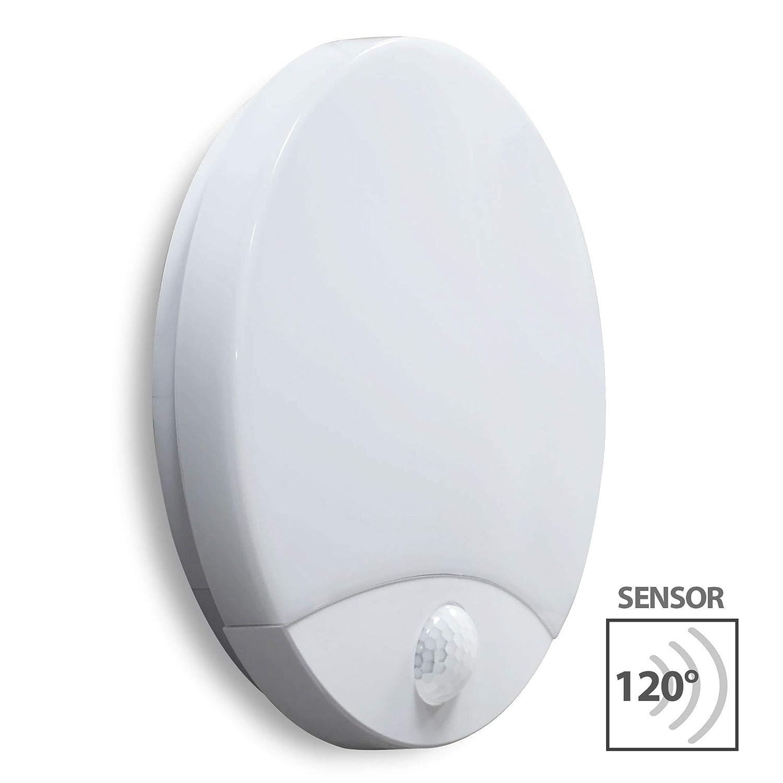 LED Aussenleuchte mit Bewegungsmelder Aussenwandleuchte Wandlampe Wandleuchte TAWAN IP44 15W 4000K Bemko