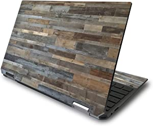 """MightySkins Skin for HP Spectre x360 13.3"""" Gem-Cut (2020) - Gray Wood 