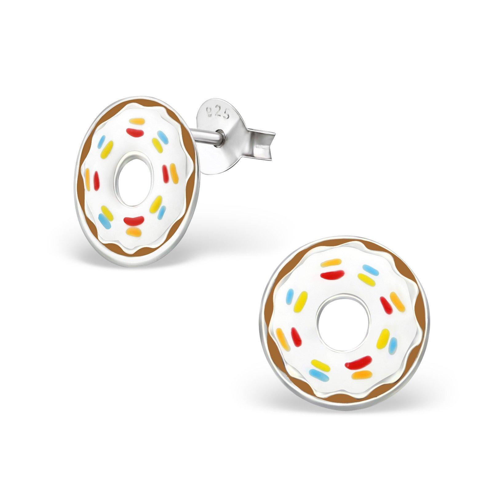 Hypoallergenic Doughnut Stud Earrings for Girls (Nickel Free and Safe for Sensitive Ears)