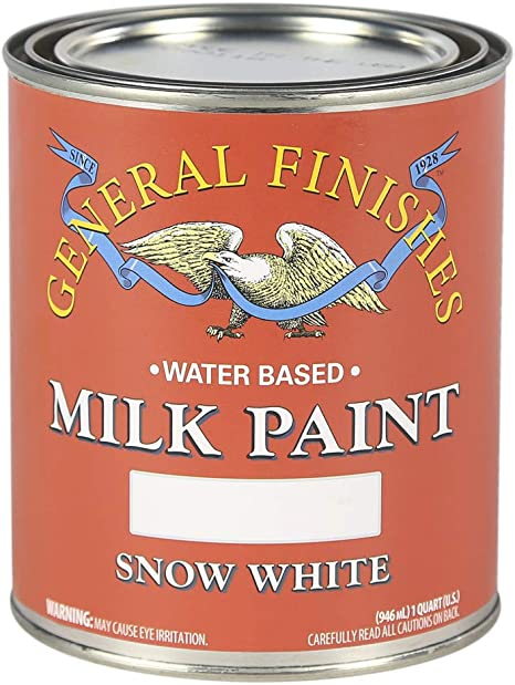 General Finishes Qsw Water Based Milk Paint 1 Quart Snow White