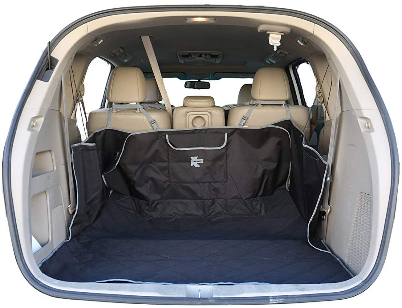 Pet Cargo Cover Pet Waterproof Quilted Trunk Protector Liner Heavy Duty Trunk Floor Mat Bed Large Covers for Pets Fits Most Car SUV Van Truck with Pocket