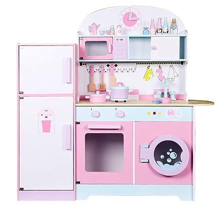 Amazon.com: Kids Kitchen Wooden Play Set Pretend Kitchen ...