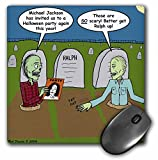Rich Diesslins Funny General Cartoons - Halloween - Zombies are Invited to Michael Jacksons Party - MousePad (mp_3804_1)