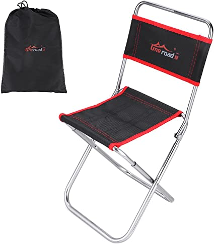 Espistmo Portable Folding Camping Stool,Aviation Aluminum Framed Mini Portable Folding Chairs Hold 200lbs for Backpacking,Hiking,BBQ,Picnic,Travel,Beach Chair with Carry Bag