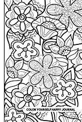 Color Yourself Happy Journal: Create a one-of-a-kind journal with a cover you color yourself! (Color Your Own Journal) (Volume 1)
