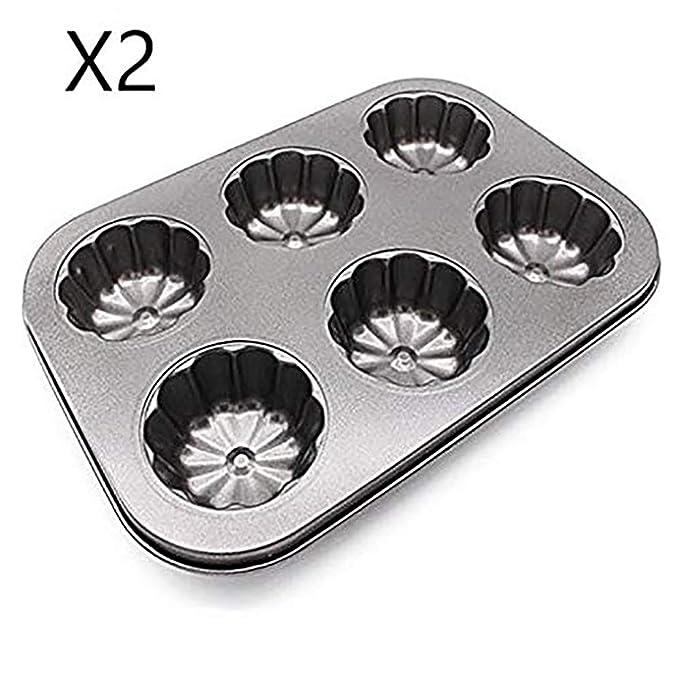 EUROXANTY®- Set de 2 Molde para Magdalenas y Muffins, Acero al ...