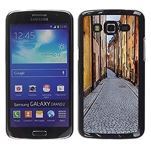 """KOKO CASE / Samsung Galaxy Grand 2 SM-G7102 SM-G7105 / edifici strada"""" / Delgado Negro Plástico caso cubierta Shell Armor Funda Case Cover"""
