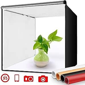 FOSITAN Caja de Luz 40x40cm Caja de Fotografía Estudio ...