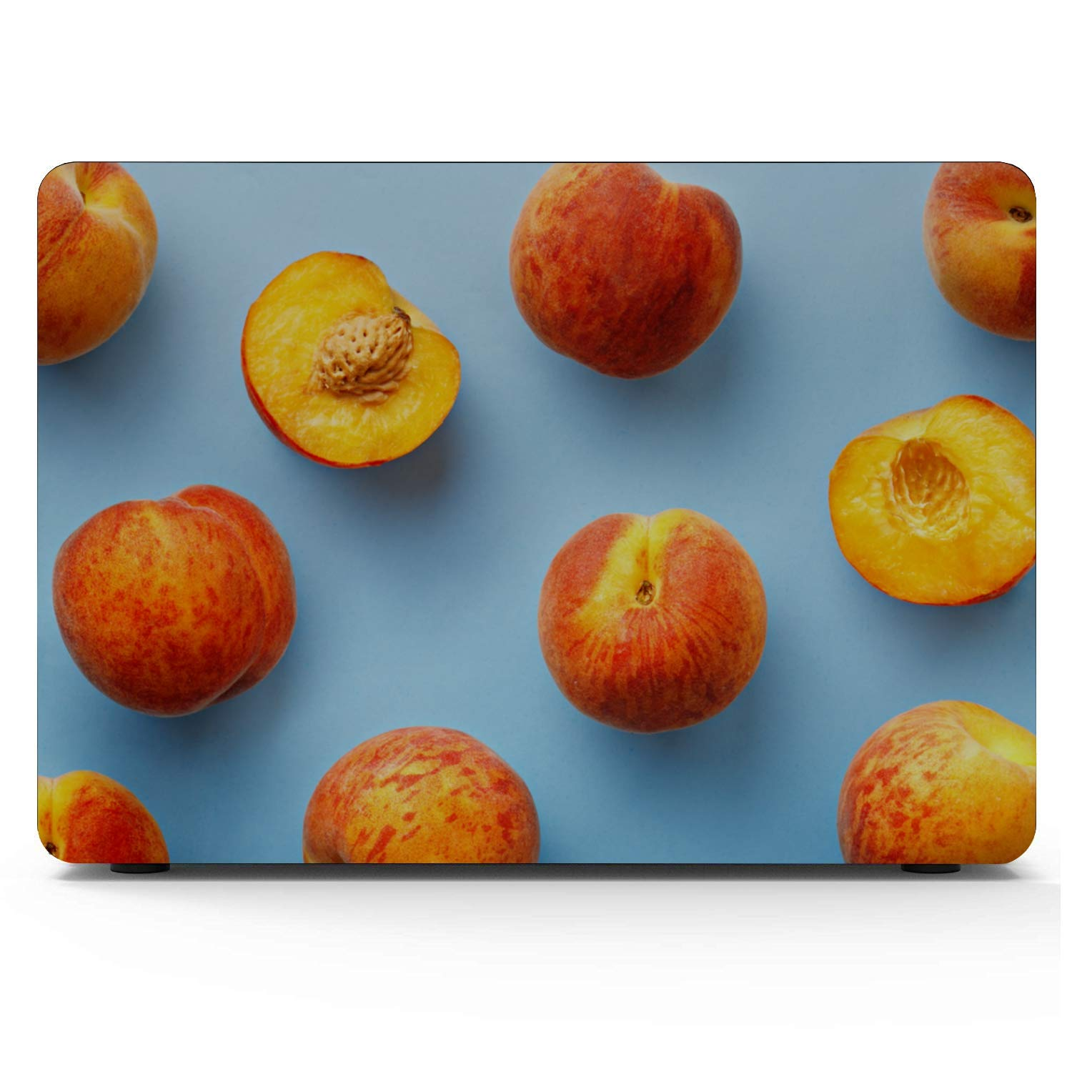 Mac Book Accessories Summer Sweet Fruit Yellow Peach Canned Plastic Hard Shell Compatible Mac Air 11 Pro 13 15 13inch MacBook Air Case Protection for MacBook 2016-2019 Version