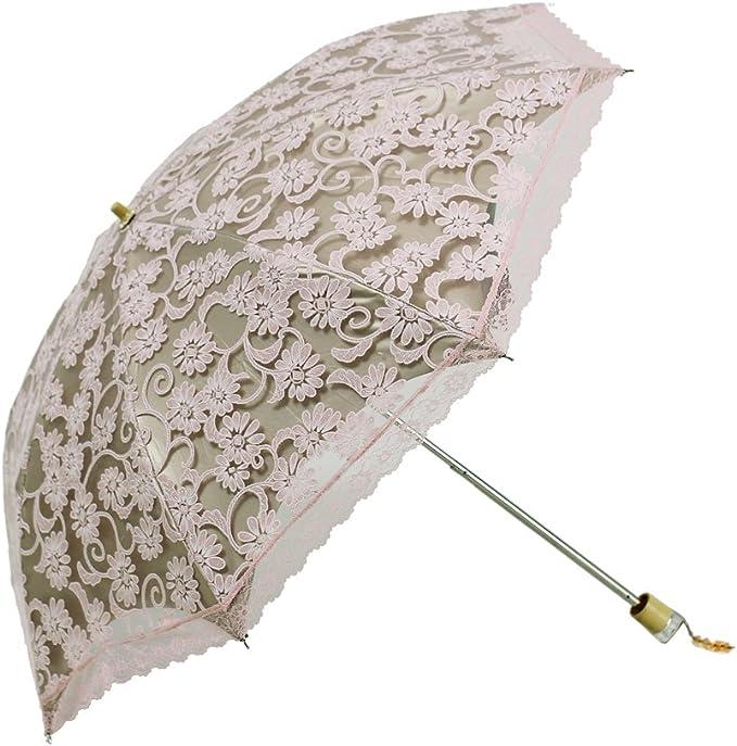Jacksome Flamingo Windproof Travel Umbrella-Compact Folding Lightweight Portable Parasol Umbrella for Women,Gift Choice