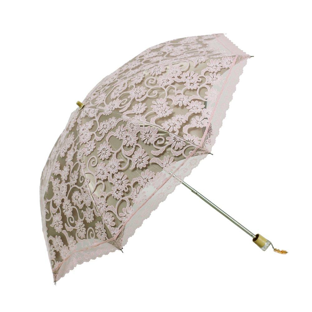 3 Folding Lace Parasol Sun//Rain//Snow Anti-UV Folding Wedding Bridal Umbrella